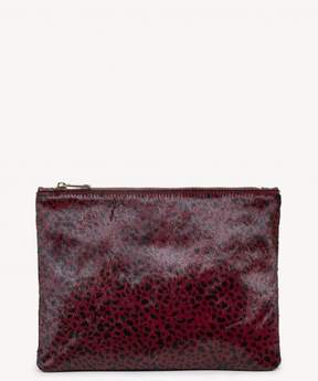 Sole Society Dolce Leopard Haircalf Pouch