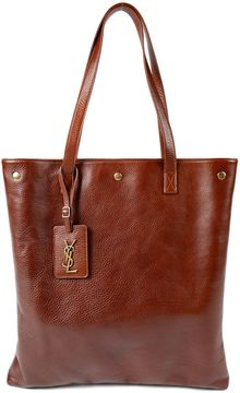 Saint Laurent Noe Flat Tote - BROWN - STYLE