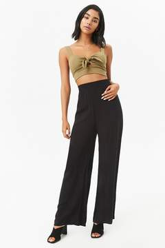 Forever 21 Wide-Leg Smocked Waistband Pants