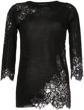 Ermanno Scervino lace effect sweater