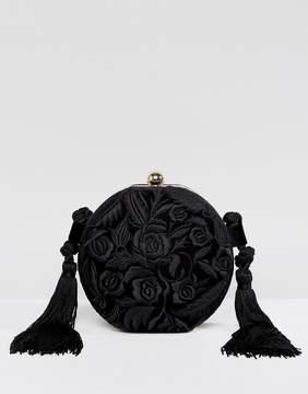 MANGO Round Applique Tassel Bag