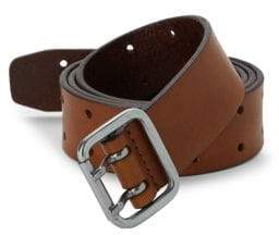 Saks Fifth Avenue Double Prong Leather Belt
