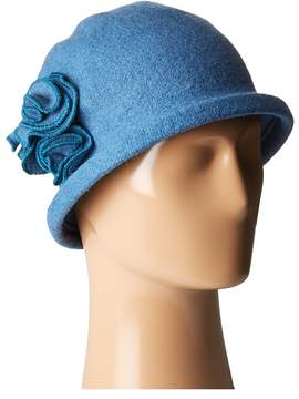 San Diego Hat Company CTH8088 Soft Knit Cloche with Side Flower Knit Hats