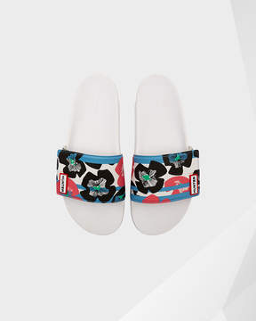 Hunter Women's Original Floral Stripe Adjustable Slides