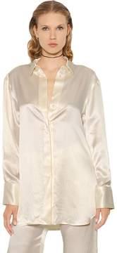 Ellery Incense Oversized Textured Silk Shirt