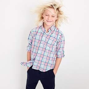 J.Crew Kids' Secret Wash shirt in rainbow plaid