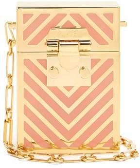 Mark Cross Nicole Chevron Striped Cross Body Bag - Womens - Pink