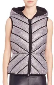 Blanc Noir Mesh-Inset Puffer Vest