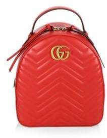 Gucci GG Marmont Chevron Quilted Leather Mini Backpack - NERO - STYLE