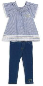 Juicy Couture Little Girl's Two-Piece Striped Top & Leggings Set