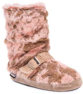 Muk Luks Women's Lia Knit Boot Slippers