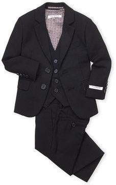 Isaac Mizrahi Toddler Boys) 3-Piece Textured Weave Suit