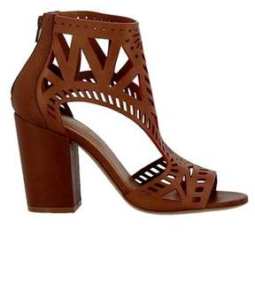 Elena Iachi Women's Brown Leather Sandals.