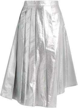 Awake Shiny Starfish asymmetric pleated cotton skirt
