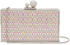Sophia Webster Clara Crystal Embellished Clutch - Womens - Silver