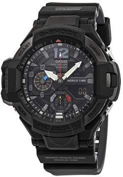 Casio G-Shock Gravitymaster Alarm World Time Black Dial Men's Watch
