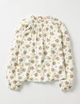 Boden Flowery Smock Top