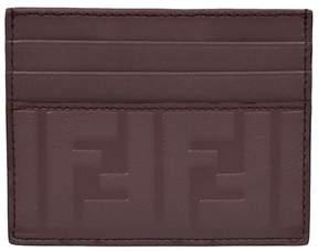 Fendi Logo Embossed Cardholder