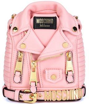 Moschino mini biker jacket backpack