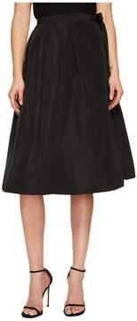 Jil Sander Navy Pleated Wrap Skirt Women's Skirt