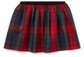 Ralph Lauren Tartan Taffeta Pull-On Skirt Holiday Tartan S