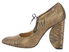 Dries Van Noten Brocade Pointed-Toe Pumps