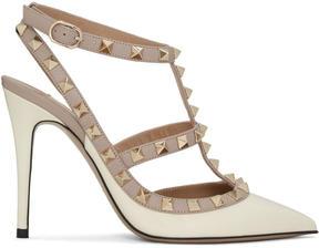 Valentino Ivory Garavani Patent Rockstud Cage Heels