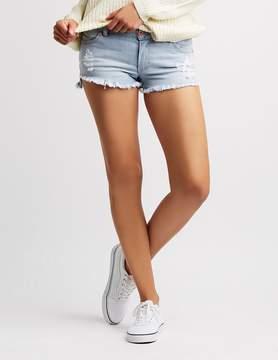 Charlotte Russe Mid-Rise Cut-Off Denim Shorts