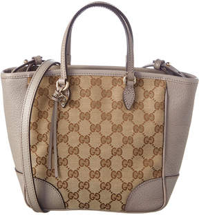 Gucci Bree Gg Supreme Canvas & Leather Tote - BROWN - STYLE