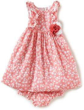 Laura Ashley London Baby Girls 12-24 Months Ditsy-Floral-Printed Fit-And-Flare Dress