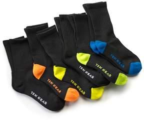 Tek Gear Boys 6-Pack Performance Crew Socks