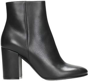 Lerre Black Leather Ankle Noots