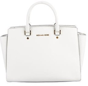 MICHAEL Michael Kors Selma Leather Tote - WHITE - STYLE