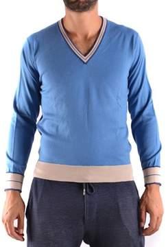 Ballantyne Men's Light Blue Cotton Sweater.