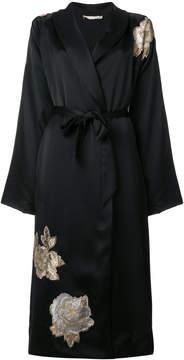 Amen wrap long kimono