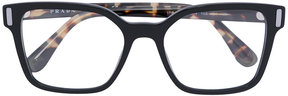 Prada square frame striped arm glasses