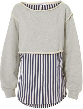 Alexander Wang Boatneck Striped Combo Pullover