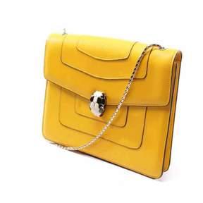 Bulgari Serpenti Yellow Leather Handbag