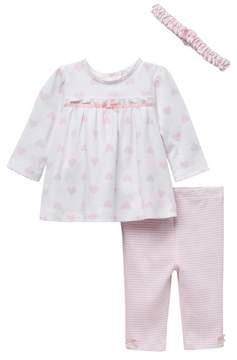 Little Me Heart Stripe Tunic Set (Baby Girls)