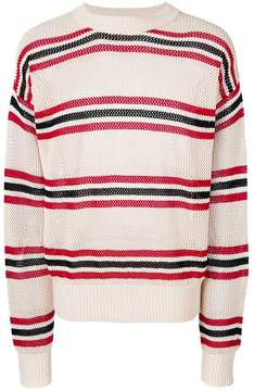 Laneus striped long-sleeve sweater