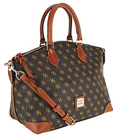 Dooney & Bourke As Is Gretta Coated Cotton Satchel - ONE COLOR - STYLE