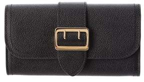 Burberry Textured Leather Continental Wallet. - BLACK - STYLE