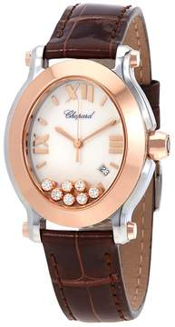 Chopard Happy Sport Oval Floating Diamonds Rose Gold and Steel Ladies Watch