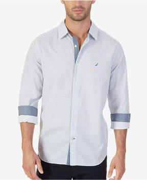 Nautica Men's Classic-Fit Linear Dot-Print Shirt