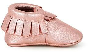 Freshly Picked Infant Girls' Rose-Gold Moccasins - Baby