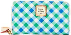 Dooney & Bourke Elsie Zip Around Phone Wristlet - BLUE GREEN - STYLE
