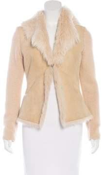 Brunello Cucinelli Shearling Long Sleeve Jacket