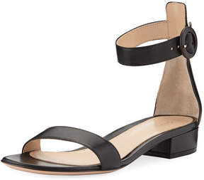 Gianvito Rossi Leather Ankle-Wrap 20mm Sandal