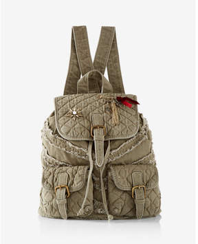 Express Quilted Embellished Drawstring Backpack