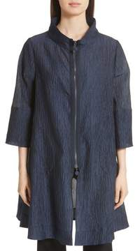 Emporio Armani Crinkle Cotton & Silk Blend Jacket